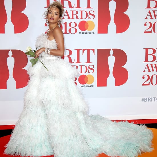 White Dresses Brit Awards Red Carpet 2018