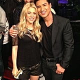 Shakira made a special appearance with Mario Lopez on Extra. Source: Twitter user MarioLopezExtra