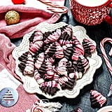 Marbled Dark Chocolate Peppermint Spritz Cookies