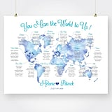 Printable Map Wedding Seating Chart