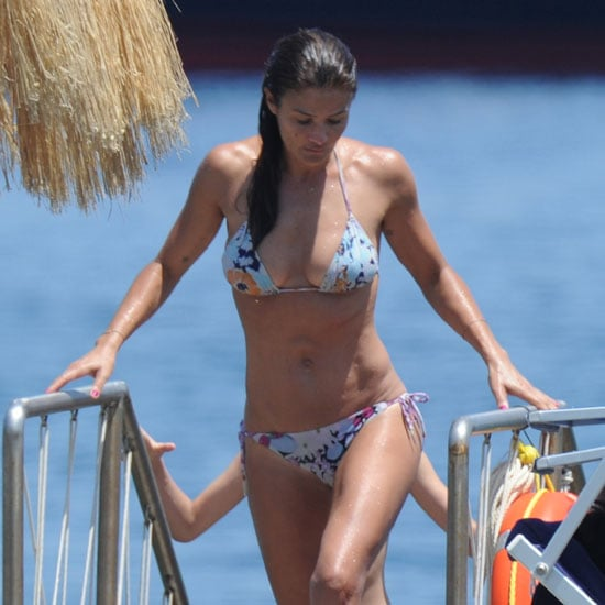 Helena Christensen Bikini Pictures in Italy