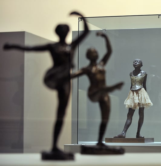 Pictures of Edgar Degas Ballerina Sculptures in France