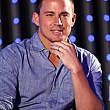Channing Tatum looked handsome as always as he took to the stage in City Walk to talk about Magic Mike.