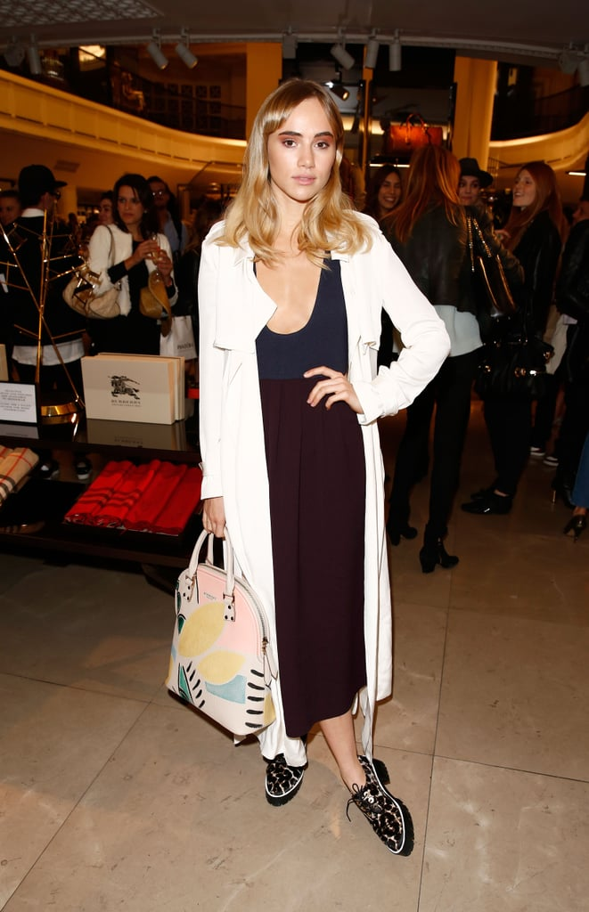 Suki had blond hair when she attended Vogue's Fashion Night Out in London on Tuesday.