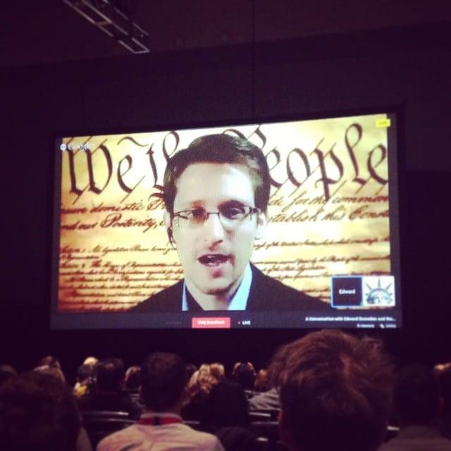 Edward Snowden Speaking Live Via Google Hangouts