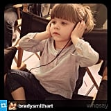 Harper Smith visited her mama on the set of White Collar. Source: Instagram user tathiessen