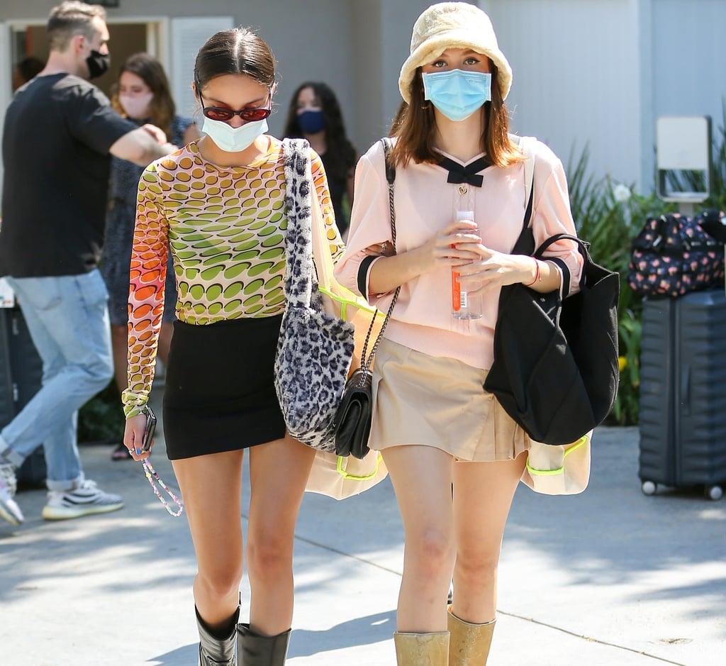 Olivia Rodrigo and Iris Apatow Channel the Early 2000s in LA