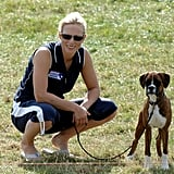Zara Phillips With Spey the Boxer