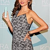 Miranda Kerr was at a press conference for KORA Organics by Miranda Kerr in Tokyo.