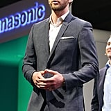 Justin Timberlake engaged the audience at the 2012 International Consumer Electronics Show.