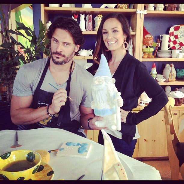 Catt Sadler painted pottery with Magic Mike star Joe Manganiello. Source: Instagram user iamcattsadler