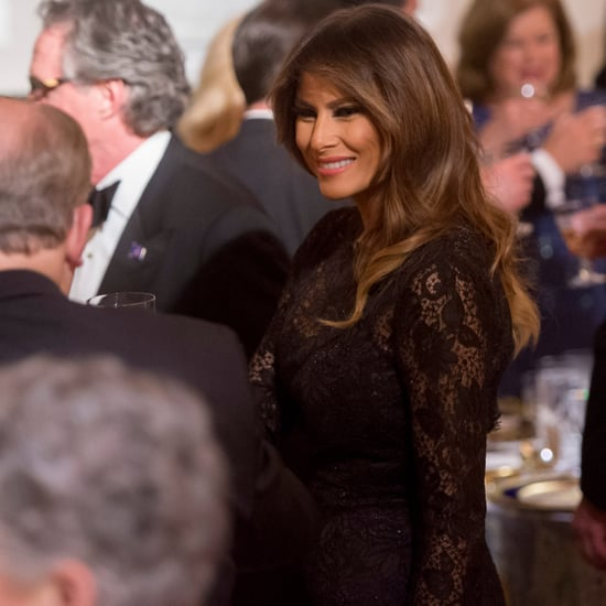 Melania Trump Black Lace Dress Governors' Ball 2018