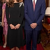 During their time in New Zealand, the pair went glam for a night out at the Government House, where a portrait of Queen Elizabeth II was unveiled.