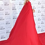 A back view of Karolina's voluminous cape.
