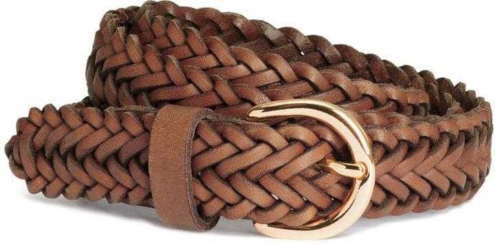 H&M Braided Leather Belt ($25)