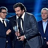 David O. Russell, Bradley Cooper, and Robert De Niro
