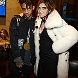 Jaden Smith and Carine Roitfeld.