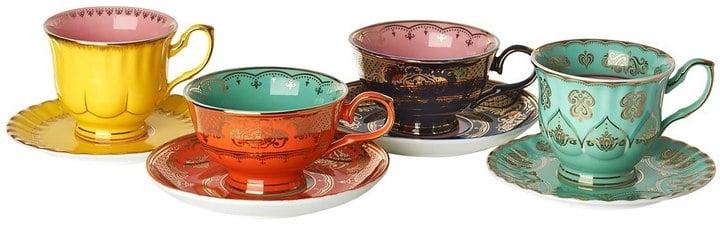 Pols Potten Grandma Set Of 4 Tea Cups & Saucers