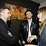 Jessica Biel and Justin Timberlake chatted with Paul Thomas Anderson in LA.