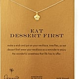Dogeared Eat Dessert First Cupcake Charm Necklace ($58)