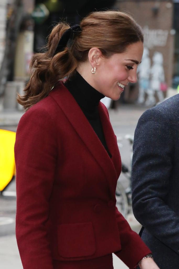 Kate Middleton Wearing Black Velvet Hair Bow