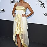 Heidi Klum at the amfAR gala in Cannes.