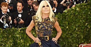 Donatella Versace's Met Gala Look Is All About the Embellishments and Her Matching Boots