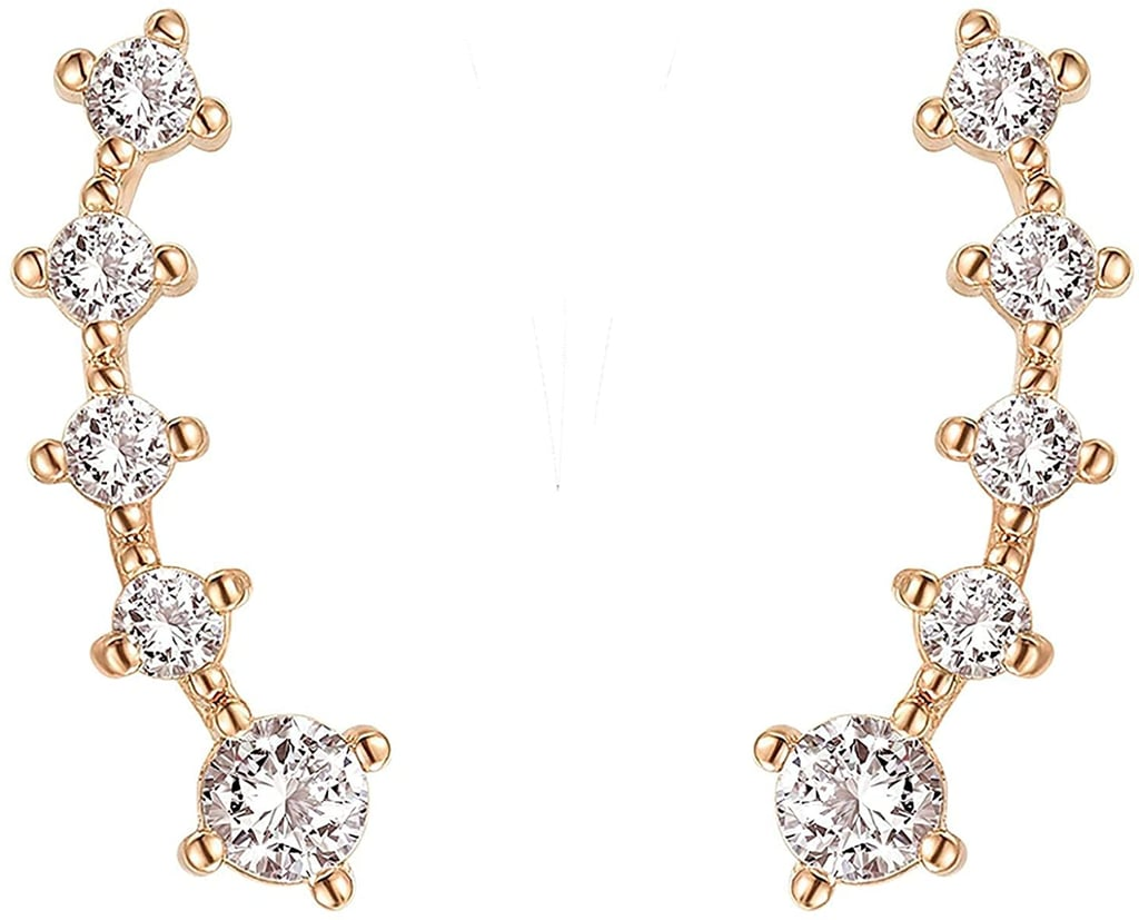 Pavoi 14K Rose-Gold-Plated Post Climbers