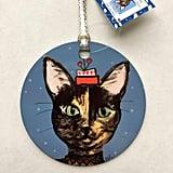 Aluminum Calico Cat Ornament