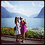 Stacy Keibler and a pal admired the view in Switzerland last month.  Source: Instagram user stacykeibler