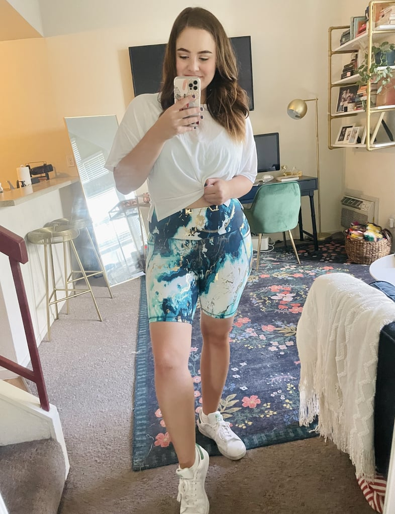 Old Navy Marble Bike Shorts Editor Try-On and Review 2021