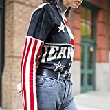 Kendall Jenner American Flag Sweater