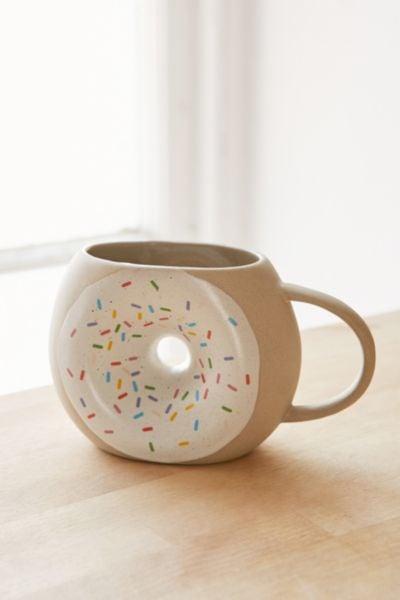 stoneware doughnut mug