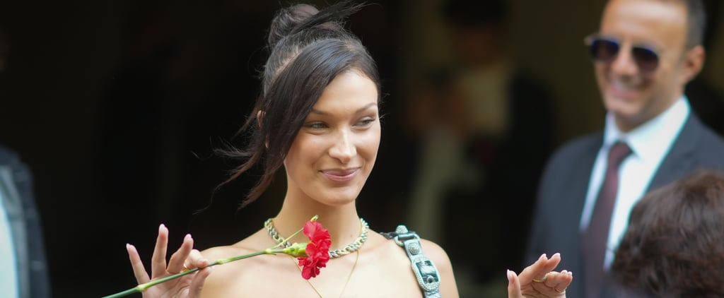 Bella Hadid Wears a Pink Burberry Set With Her New Boyfriend
