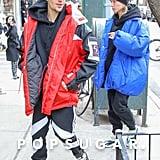 Justin Bieber Wearing Hailey Baldwin's Balenciaga Jacket