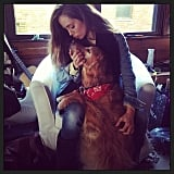 Eliza Dushku shared a sweet photo with her dog. Source: Instagram user elizadushku
