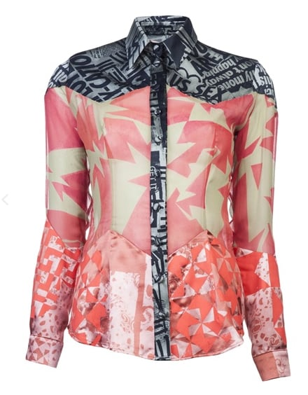 Louise Gray Mixed-Print Shirt