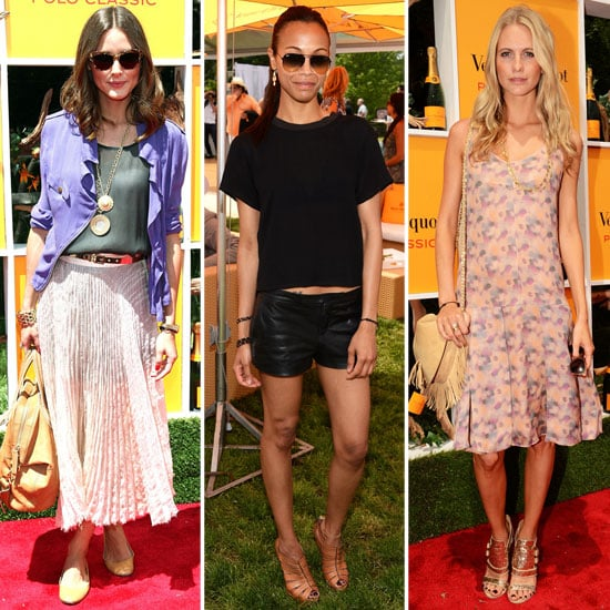 Zoe, Poppy, Olivia, and More Show Off Enviable Sunny Style at the Veuve Clicquot Polo Classic