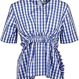 MSGM Gingham Ruffled Top