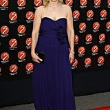 I love this indigo colour on Zara. She looks fab on the red carpet at the 2010 Sport Industry Awards.
