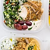 Cauliflower Rice Tabbouleh With Chicken, Baba Ganoush, and Olives