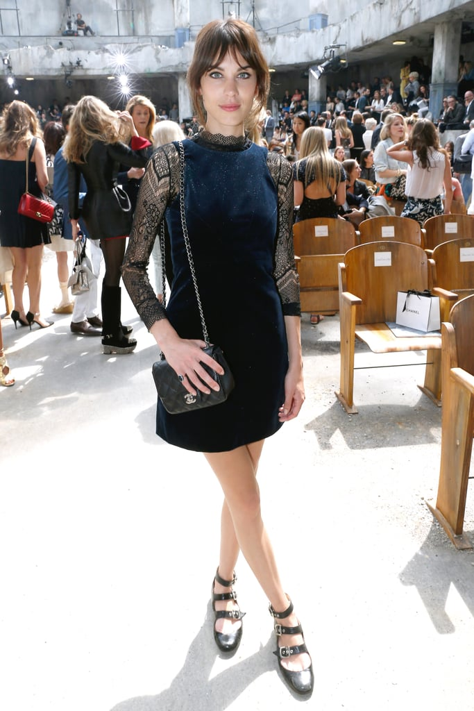 Alexa Chung went to the Chanel Haute Couture show in Paris.