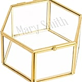 Cathy's Concepts Monogrammed Gold Glass Keepsake Box