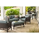 Hampton Bay Fenton 4-Piece Wicker Outdoor Patio Seating Set