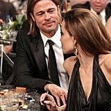 Angelina shared a table with Brad at the SAG Awards.