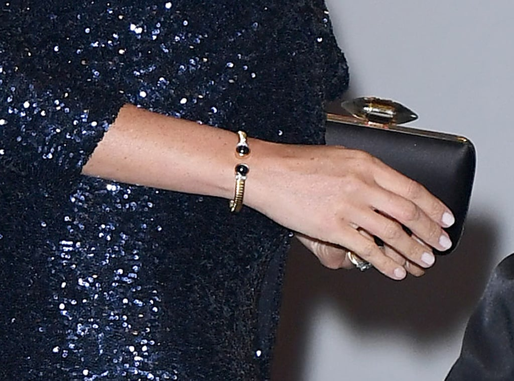 Meghan wore the bracelet again when she and Harry attended a performance by Cirque du Soleil at the Royal Albert Hall.
