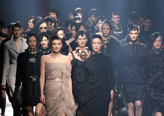 Fashion Week Quickie: Model Stampede at Lanvin!