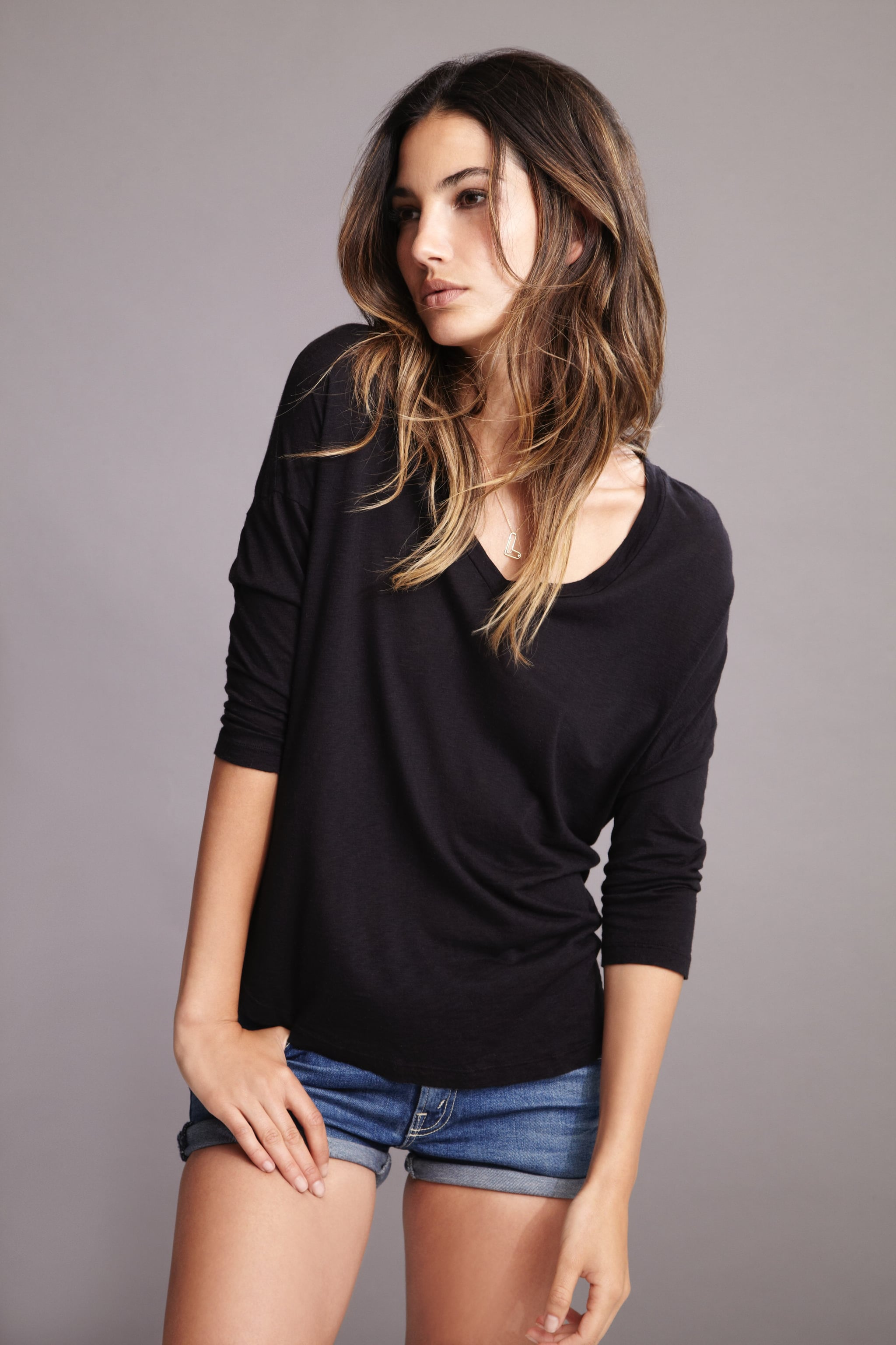 Lily Aldridge For Velvet Maud Luxe Slub Dolman Tee ($79) Source: Courtesy of Velvet