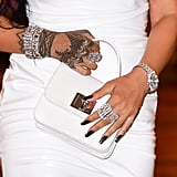 Rihanna's Black-and-Gold Manicure