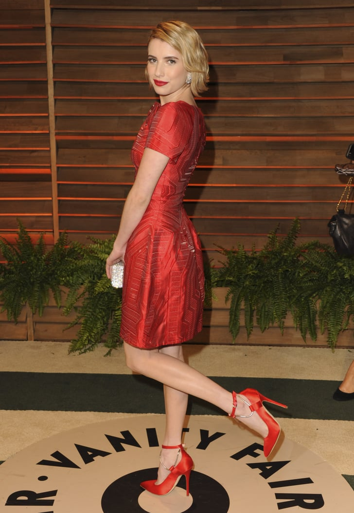 Emma Roberts Popped Her Leg Up For A Photo Vanity Fair